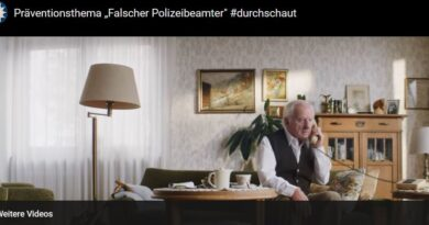 Screenshot falsche Polizeibeamte