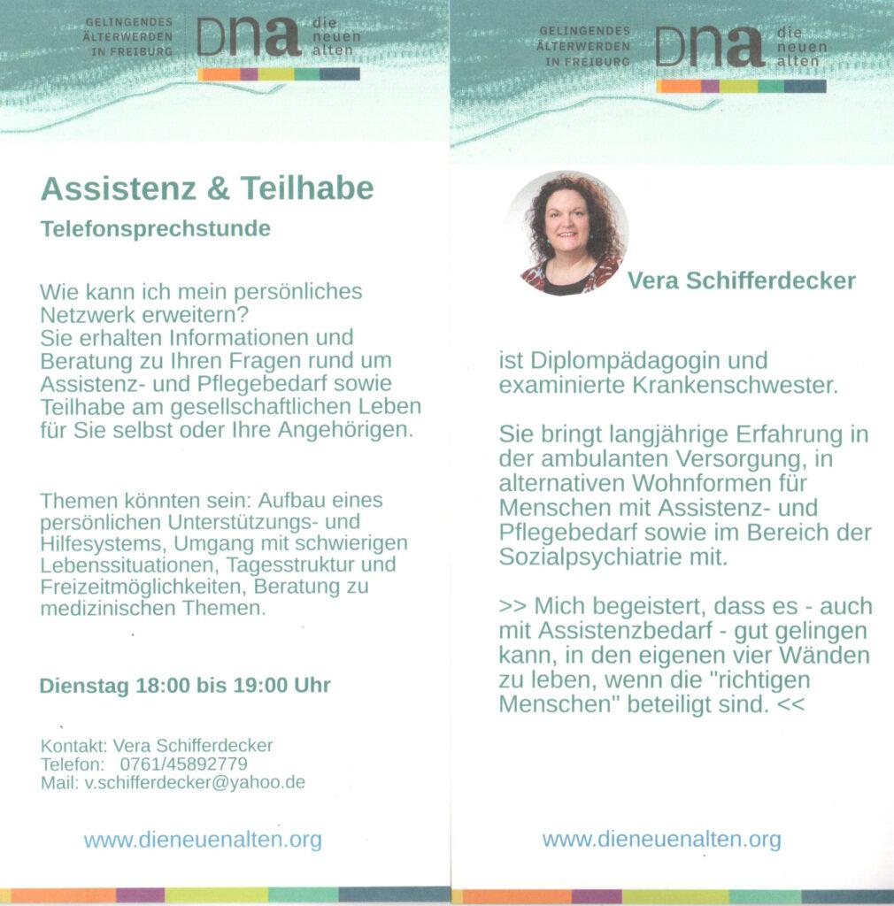 Vera Schifferdecker: Assistenz und Teilhabe
